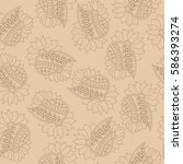 seamless pattern with... | Shutterstock .eps vector #586393274