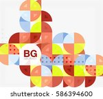 colorful circle elements.... | Shutterstock .eps vector #586394600