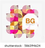 colorful circle elements.... | Shutterstock .eps vector #586394624