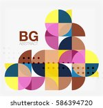 colorful circle elements.... | Shutterstock .eps vector #586394720