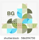 colorful circle elements.... | Shutterstock .eps vector #586394750
