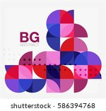 colorful circle elements.... | Shutterstock .eps vector #586394768