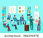 statistics analytics business... | Shutterstock .eps vector #586394978