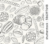 seamless pattern with a variety ... | Shutterstock .eps vector #586397648