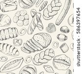 seamless pattern with a variety ...   Shutterstock .eps vector #586397654