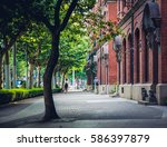 shanghai street   european style | Shutterstock . vector #586397879