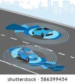 automobile sensors use in self... | Shutterstock .eps vector #586399454
