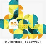 abstract background of circle... | Shutterstock .eps vector #586399874