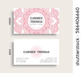 luxury business cards. vintage... | Shutterstock .eps vector #586406660