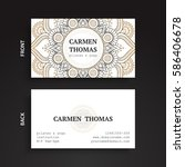 luxury business cards. vintage... | Shutterstock .eps vector #586406678