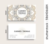 luxury business cards. vintage... | Shutterstock .eps vector #586406684
