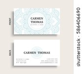 luxury business cards. vintage... | Shutterstock .eps vector #586406690