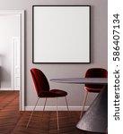 mockup poster in art deco style ... | Shutterstock . vector #586407134