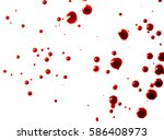 drops of red blood on white... | Shutterstock . vector #586408973