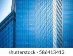 modern office building detail ... | Shutterstock . vector #586413413