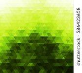 Abstract Green Triangular...