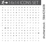 huge set of icons for web... | Shutterstock .eps vector #586425608