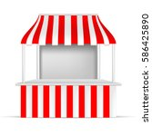 vector  red and white pos poi... | Shutterstock .eps vector #586425890