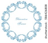 decorative round frame with... | Shutterstock .eps vector #586426808