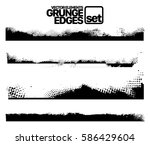 set of grunge and ink stroke... | Shutterstock .eps vector #586429604