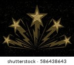 stars bursting with lightning... | Shutterstock .eps vector #586438643