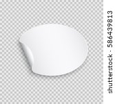 rounded peel off paper sticker... | Shutterstock .eps vector #586439813