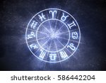 astrology and horoscopes... | Shutterstock . vector #586442204