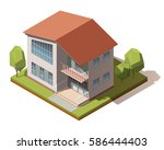 vector isometric infographic... | Shutterstock .eps vector #586444403