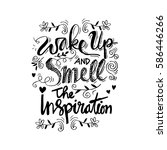 wake up and smell the... | Shutterstock .eps vector #586446266