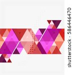 vector triangles abstract... | Shutterstock .eps vector #586446470