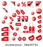 vector price tags | Shutterstock .eps vector #58644754