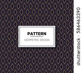 luxury vector pattern | Shutterstock .eps vector #586463390