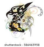 mystical imaginary symbol... | Shutterstock .eps vector #586465958