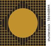 art deco background frame vector | Shutterstock .eps vector #586468844