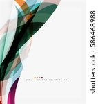 modern geometric wavy shapes on ... | Shutterstock .eps vector #586468988