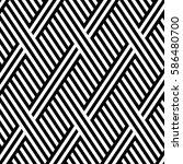 vector seamless pattern. modern ... | Shutterstock .eps vector #586480700