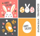 Happy Easter Cards Set With...