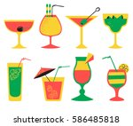 vector set with alcohol... | Shutterstock .eps vector #586485818