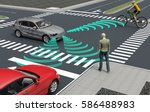 self driving electronic... | Shutterstock . vector #586488983