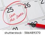 save the date written on a... | Shutterstock . vector #586489370