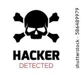 computer virus concept. hacker... | Shutterstock .eps vector #586489979