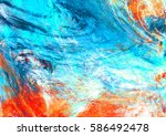 blue sea wave. artistic... | Shutterstock . vector #586492478