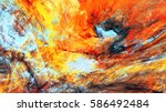 abstract red and yellow warm... | Shutterstock . vector #586492484
