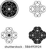 ornamental pattern   vector icon   Shutterstock .eps vector #586493924