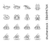 vector icons set of a... | Shutterstock .eps vector #586494764
