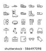 men's shoes   accessories.... | Shutterstock .eps vector #586497098