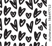 hand drawn seamless pattern... | Shutterstock .eps vector #586497713