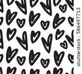 hand drawn seamless pattern... | Shutterstock .eps vector #586497713