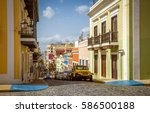 Colorful Houses And Street Of...