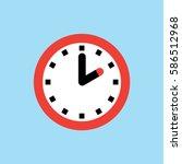 clock icon  2 o'clock vector... | Shutterstock .eps vector #586512968